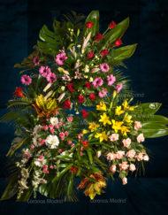 Corona de flores variado
