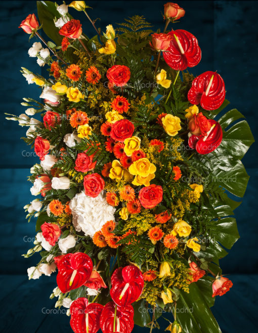 Palma con rosas y anthurium